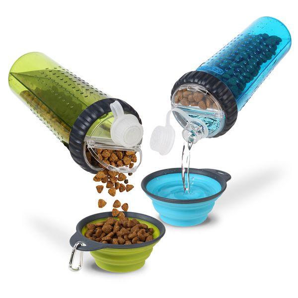 Dexas Popware Snack-DuO™ with Companion Cup - 1 x Snack 1 x Wasser in einer Flasche!