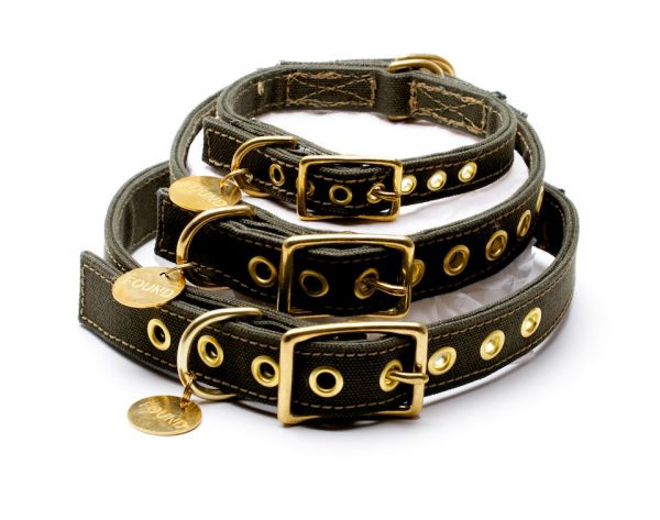 Found my Animal Canvas Halsband in Olive  47087b4725248