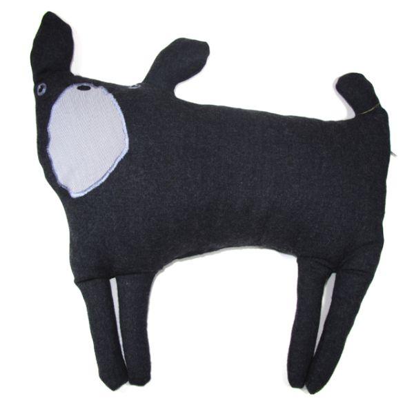 French Bulldog Kissen von Hand genäht in Wolle