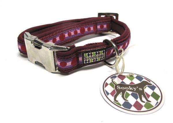 Sooky's Punkte Gurthalsband mit Neopren Fütterung Größe S-M (28-34 cm Halsumfang)