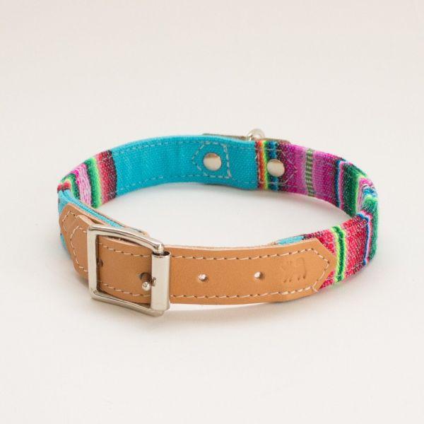 Hiro + Wolf Inca Blue Hundehalsband
