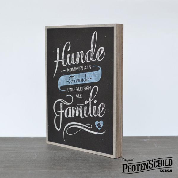 Original Pfotenschild Design Holzschild - Leben ohne Hunde ist wie Tanzen ohne Musik