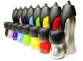 H2O4K9 Edelstahl Hundetrinkflasche