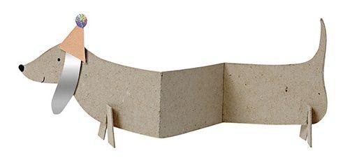 Meri Meri Dackelkärtchen mit Umschlag