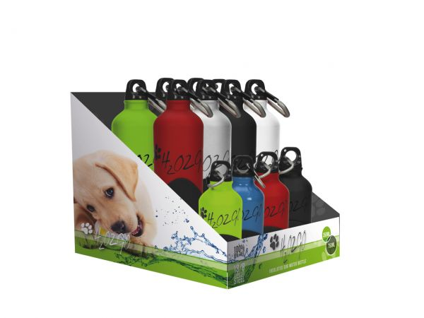 H2O2Go Edelstahl Hundetrinkflasche für Hund & Halter