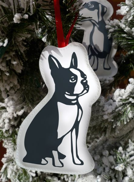 Naked Decor Weihnachtsornament Boston Terrier