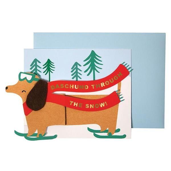 Meri Meri Dachshund Christmas Card
